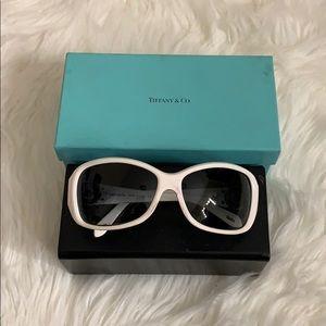 Tiffany & Co white sunglasses